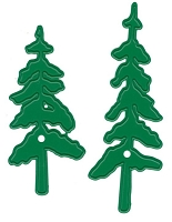Joy Crafts - Noor Cutting & Embossing Die - Happy Holidays Christmas Trees