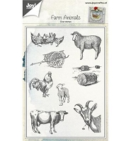 Joy Crafts - Clear Stamps - Farm Animals