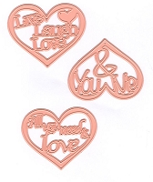 Joy Crafts - Cutting Die - Love Hearts Text