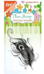 Joy Craft - Clear Stamp - Peacock Feather