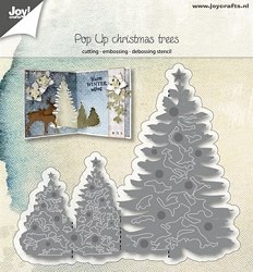 Joy Crafts - Cutting Die - Pop Up Christmas Trees