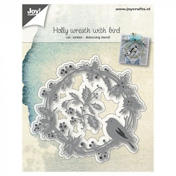 Joy Crafts - Cutting Die - Holly Wreath with Bird