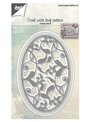 Joy Crafts - Cutting Die - Oval With Leaf Pattern