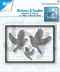 Joy Crafts - Cutting Die - Pigeons & Frame