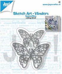Joy Crafts - Cutting Die - Sketch Art Butterflies