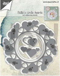 Joy Crafts - Cutting & Embossing Die - Bille's Circle Hearts