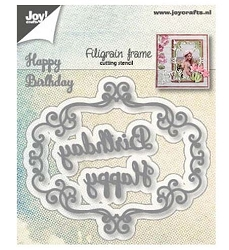 Joy Crafts - Cutting Die - Filigrain Frame Happy Birthday