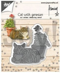 Joy Crafts - Cutting Die - Cat with Geranium