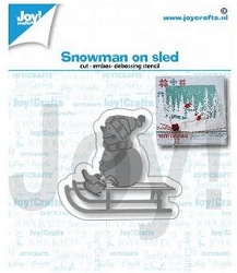 Joy Crafts - Cutting Die - Snowman On A Sled