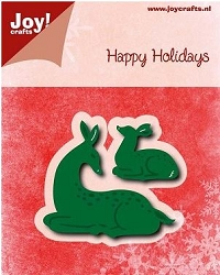 Joy Crafts - Cutting & Embossing Die - Happy Holidays Deer