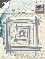 Joy Crafts - Cutting Die - Sketch Art Big Square