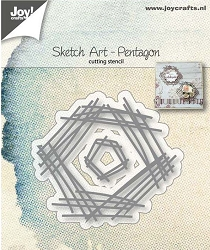 Joy Crafts - Cutting Die - Sketch Art Pentagon