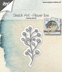 Joy Crafts - Cutting Die - Sketch Art Flower Line