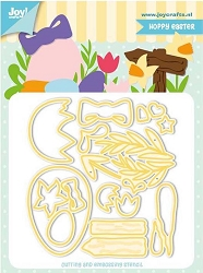 Joy Crafts - Cutting & Embossing Die - Jocelijne Hoppy Easter