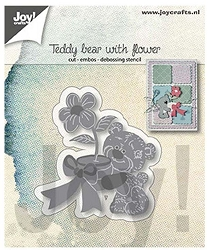 Joy Crafts - Cutting & Embossing Die - Teddy Bear with Flower