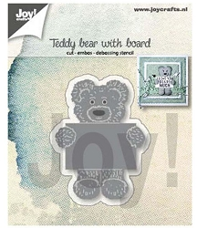 Joy Crafts - Cutting & Embossing Die - Teddy Bear with Board
