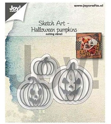 Joy Crafts - Cutting & Embossing Die - Sketch Art Pumpkins