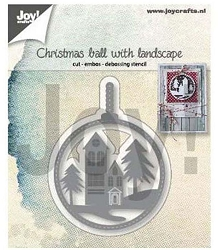 Joy Crafts - Cutting & Embossing Die - Christmas Ball with Landscape