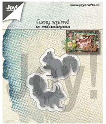 Joy Crafts - Cutting & Embossing Die - Funny Squirrels