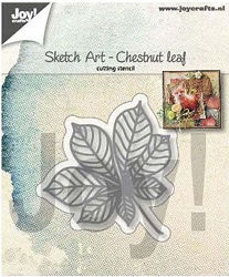 Joy Crafts - Cutting Die - Sketch Art Chestnut Leaf
