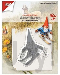 Joy Crafts - Cutting & Embossing Die - Winter Pleasure Gnome on Skis