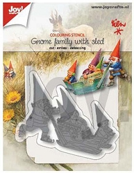 Joy Crafts - Cutting & Embossing Die - Gnomes Family with Sled