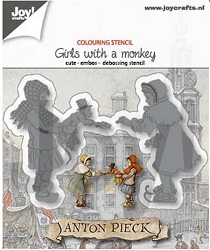 Joy Crafts - Cutting & Embossing Die - Anton Pieck Girl with a Monkey