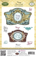 Just Rite - Cling Stamp Set - Vintage Pearl Labels by Amy Tedder