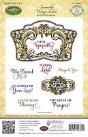 Just Rite - Cling Stamp Set - by Amy Tedder - Sympathy Vintage Labels :)