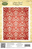 Just Rite - Cling Stamp - by Amy Tedder - Antique Damask Background :)
