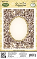 Just Rite - Cling Stamp - Lace Oval Frame Background