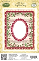 Just Rite - Cling Stamp - Holly Frame Background :)