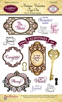 Just Rite - Clear Stamp - Antique Valentine Tags One by Amy Teddler