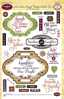 Just Rite - Clear Stamp Set - by Amy Tedder - Live, Love, Laugh Vintage Labels Two