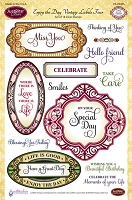 Just Rite - Clear Stamp Set - by Amy Tedder - Enjoy The Day Vintage Labels Four