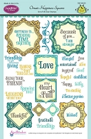 Just Rite - Clear Stamp Set - by Samantha Walker - Ornate Happiness Squares
