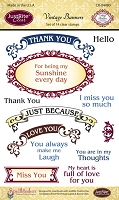 Just Rite - Clear Stamp Set - Vintage Banners