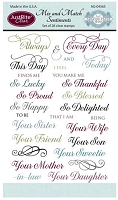 Just Rite - Clear Stamp Set - Mix and Match Sentiments