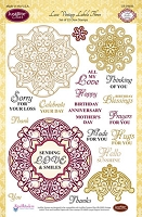 Just Rite - Clear Stamp - Lace Vintage Labels 3