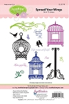 Just Rite-Cling Stamp Set-Spread Your Wings
