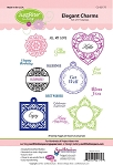 Just Rite-Cling Stamp Set-Elegant Charms