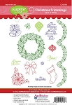 Just Rite-Cling Stamp Set-Christmas Trimmings