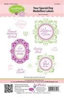 Just Rite - Cling Stamp - Your Special Day Medallion Labels