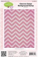 Just Rite - Cling Stamp - Chevron Stripe Background