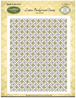 Just Rite - Cling Stamp -Lattice Background by Amy Teddler Designs