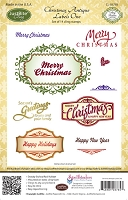 Just Rite - Cling Stamp - Christmas Antique Labels One