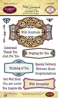 Just Rite - Clear Stamp - With Gratitude Antique Labels One
