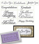 Just Rite-Rectangular Stamp Set-All Occasions Nested Sentiments