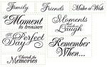 Just Rite-Rectangular Stamp Set-Cherish the Memories Nested Sentiments