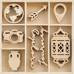 KaiserCraft - Journey Collection - Journey Wooden Shapes